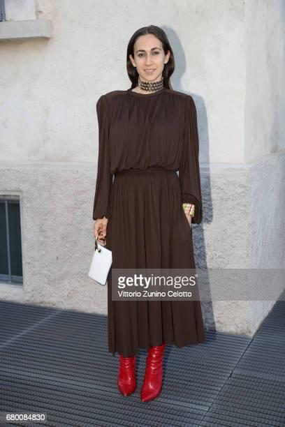 Delfina Delettrez Fendi attends a 'Private view of 'TV 70 Francesco Vezzoli Guarda La Rai' at Fondazione Prada on May 7 2017 in Milan Italy
