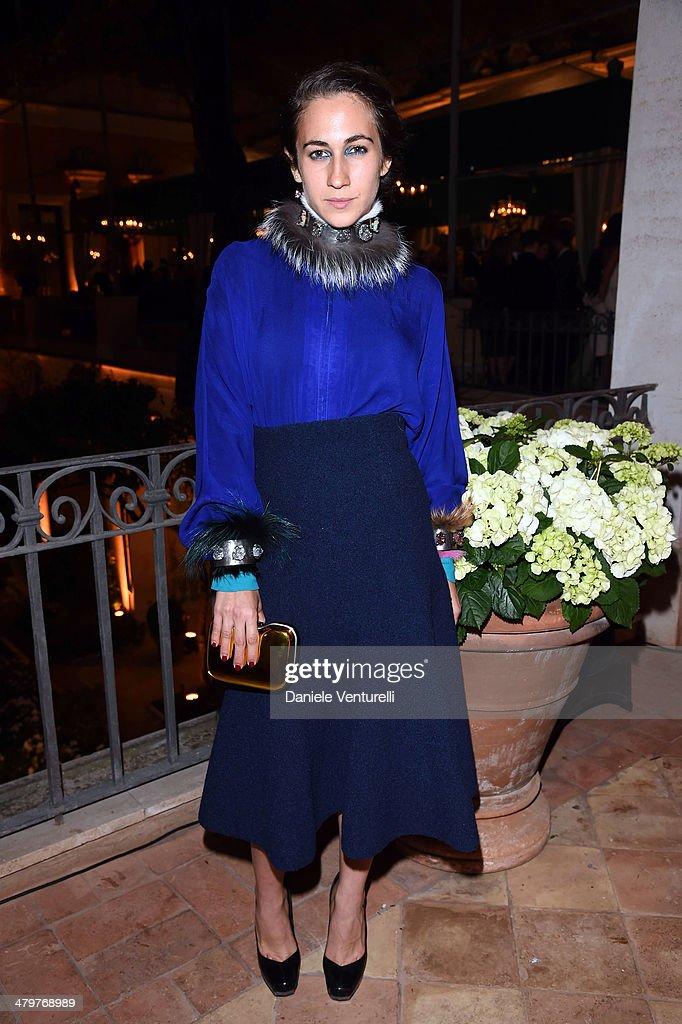 <a gi-track='captionPersonalityLinkClicked' href=/galleries/search?phrase=Delfina+Delettrez+Fendi+-+Jewelry+Designer&family=editorial&specificpeople=5363651 ng-click='$event.stopPropagation()'>Delfina Delettrez Fendi</a> attends 'Bvlgari Celebrates 130 Years In Rome' at Via Condotti on March 20, 2014 in Rome, Italy.