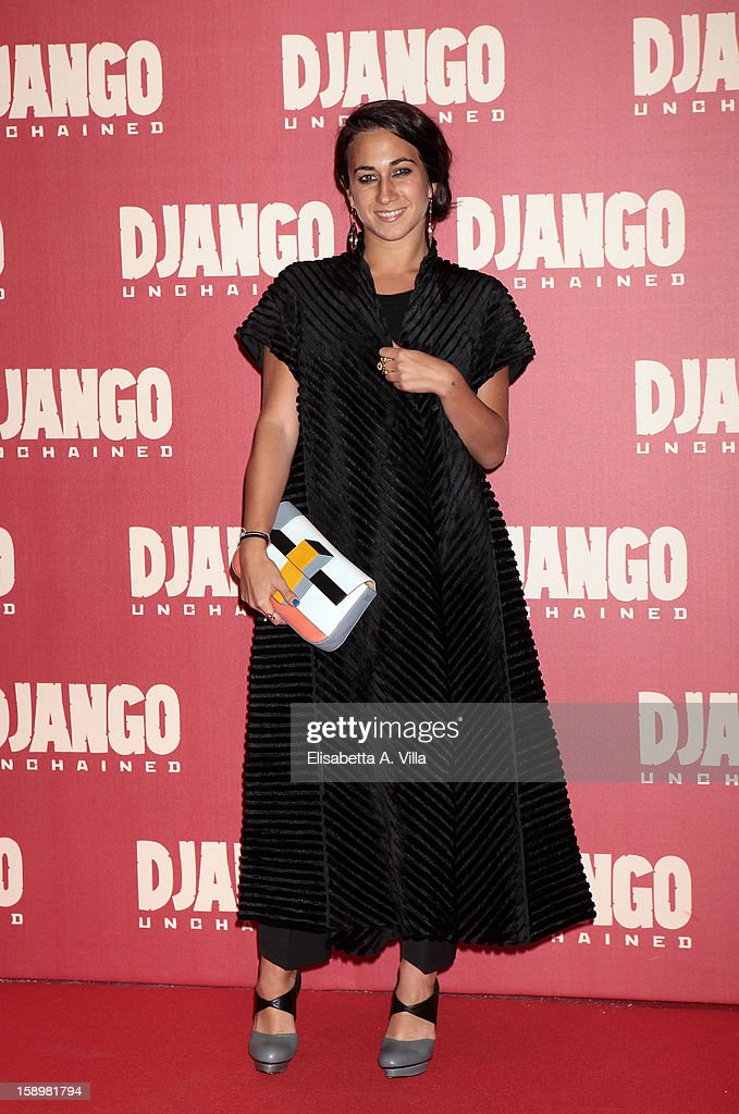 Delfina Delettrez Fendi attends 'Django Unchained' premiere at Cinema Adriano on January 4, 2013 in Rome, Italy.
