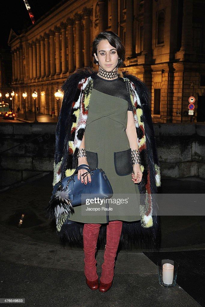 Delfina Delettrez Fendi attends Gaia Repossi's Jewelry Collection At Jeu de Paume as part of the Paris Fashion Week Womenswear Fall/Winter 20142015...