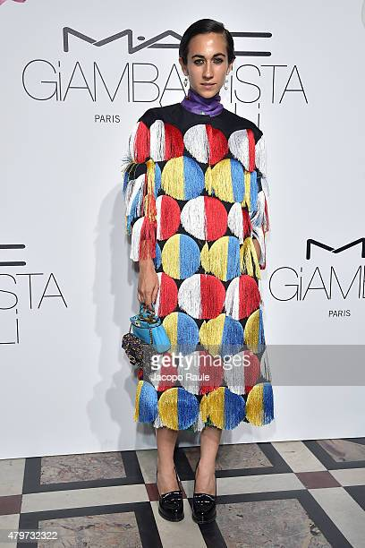 Delfina Delettrez Fendi attends MAC Cosmetics Giambattista Valli Floral Obsession Ball In Paris at Opera Garnier on July 6 2015 in Paris France