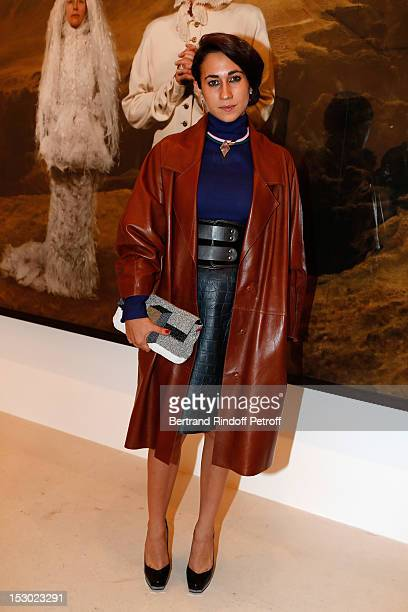 Delfina Delettrez Fendi attends the Cindy Sherman Exhibition launch at the Gagosian Gallery on September 28 2012 in Paris France