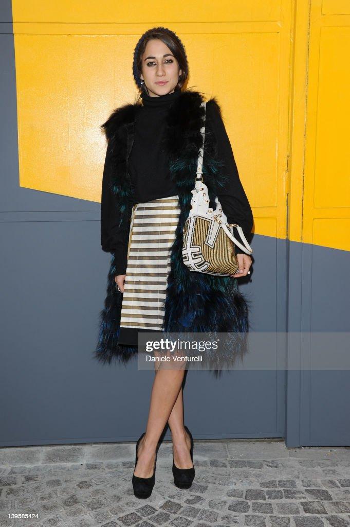 Delfina Delettrez Fendi attends the Fendi Autumn/Winter 2012/2013 fashion show as part of Milan Womenswear Fashion Week on February 23 2012 in Milan...