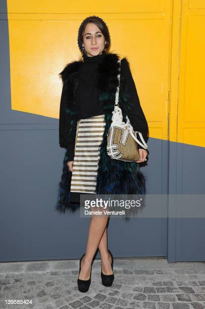 Delfina Delettrez Fendi attends the Fendi Autumn/Winter 2012/2013 fashion show as part of Milan Womenswear Fashion Week on February 23 2012 in Milan...