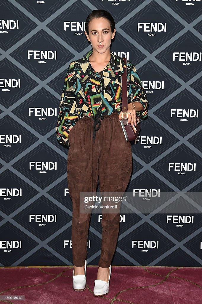 Delfina Delettrez Fendi attends the Fendi show as part of Paris Fashion Week Haute Couture Fall/Winter 2015/2016 on July 8 2015 in Paris France