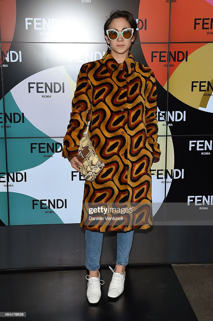 Delfina Delettrez Fendi attends the Fendi show during the Milan Fashion Week Autumn/Winter 2015 on February 26 2015 in Milan Italy