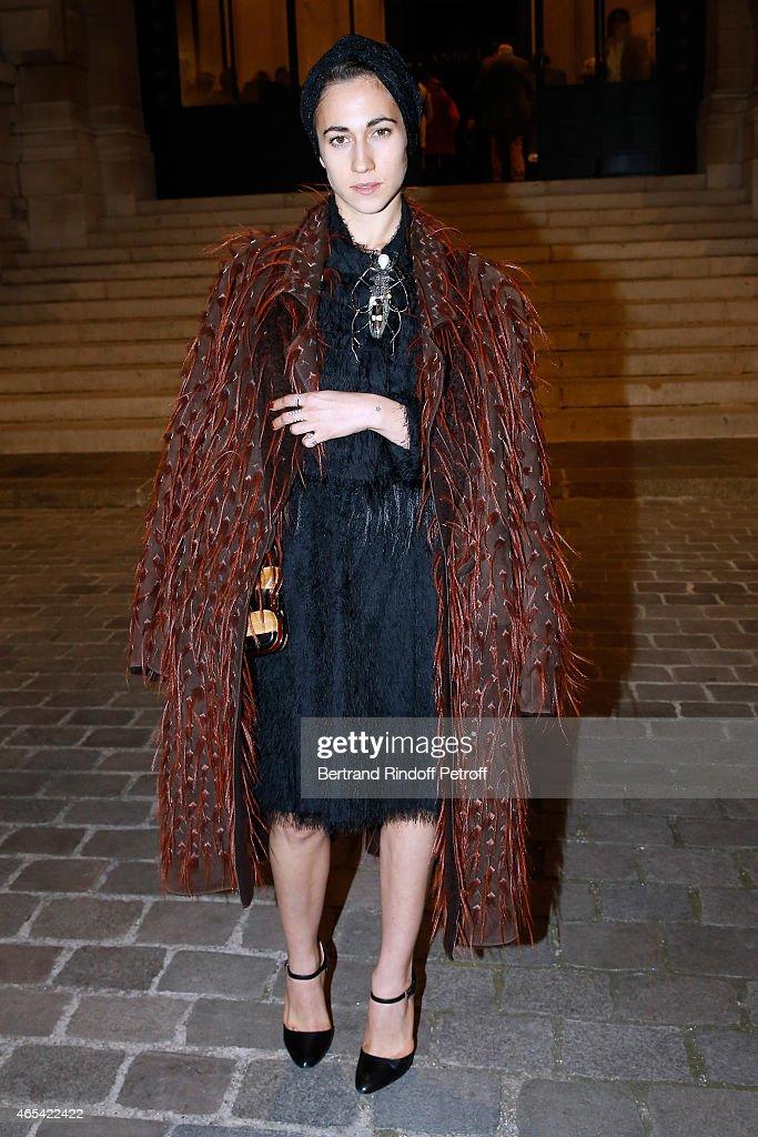 Delfina Delettrez Fendi attends the Jeanne Lanvin Retrospective Opening Ceremony at Palais Galliera on March 6 2015 in Paris France