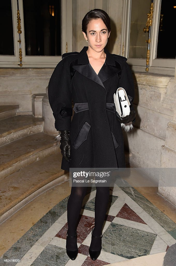 Delfina Delettrez Fendi attends the Valentino show as part of Paris Fashion Week Haute Couture Spring/Summer 2015 on January 28 2015 in Paris France