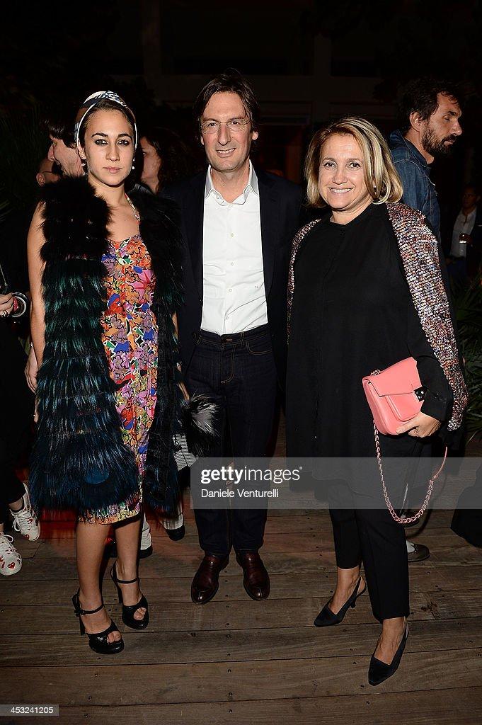 Delfina Delettrez Fendi Pietro Beccari and Silvia Venturini Fendi attend 'Metamorphosis' Design Collaboration with Maria Pergay for FENDI during 2013...