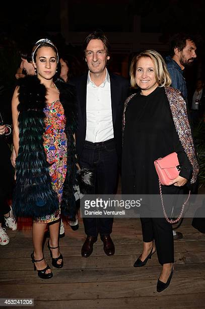Delfina Delettrez Fendi Pietro Beccari and Silvia Venturini Fendi attend 'Metamorphosis' Design Collaboration with Maria Pergay for FENDI during 2013...