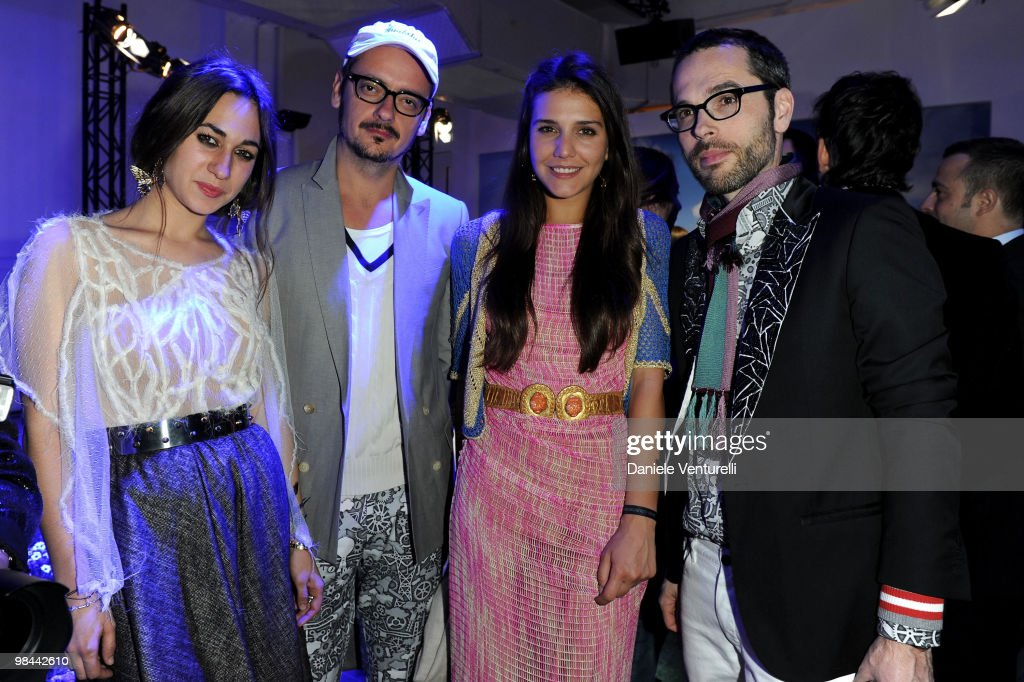 Delfina Delettrez Fendi, Viktor Horsting, Margherita Maccapani Missoni and Rolf Snoeren attend the MINI Countryman Picnic event on April 13, 2010 in Milan, Italy.