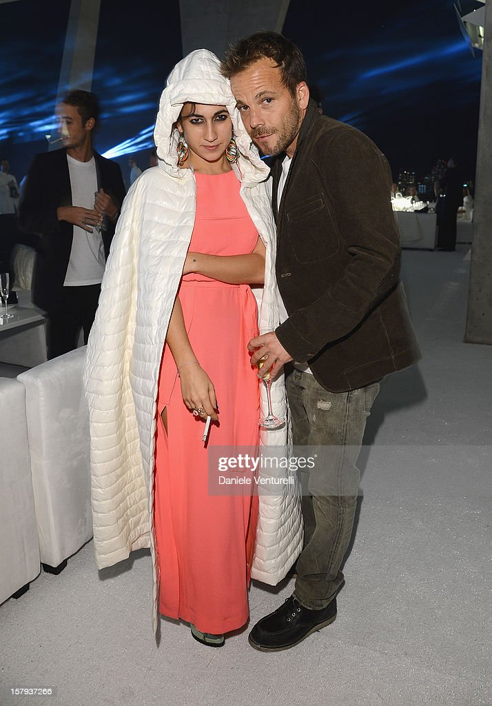 Delfina Fendi and Actor Stephen Dorff attend a private dinner celebrating Remo Ruffini and Moncler's 60th Anniversary during Art Basel Miami Beach on...