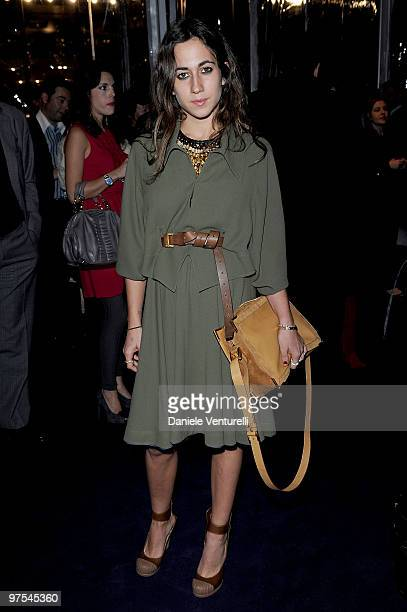 Delfina Fendi attends the Bulgari Chandra Event as part of Milan Fashion Week Womenswear A/W 2010 on February 26 2010 in Milan Italy