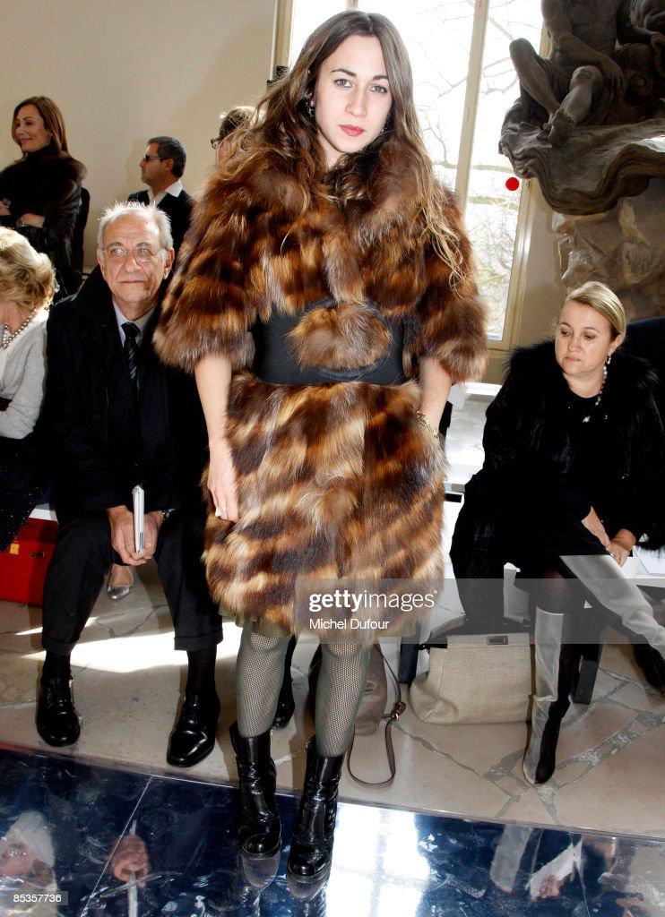 Delfina Fendi attends the Valentino ReadytoWear A/W 2009 fashion show during Paris Fashion Week at Cite de l'Architecture on March 10 2009 in Paris...