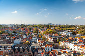 Delft panorama sunny day