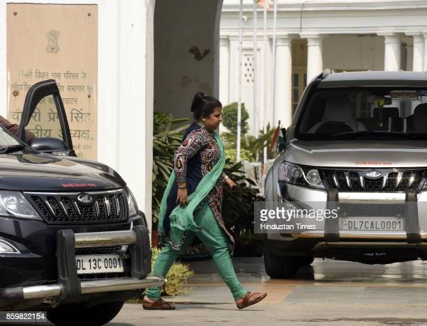 Delhi Assembly Deputy Speaker Rakhi Birla during the break hour of the special session of the Legislative Assembly of National Capital Territory of...