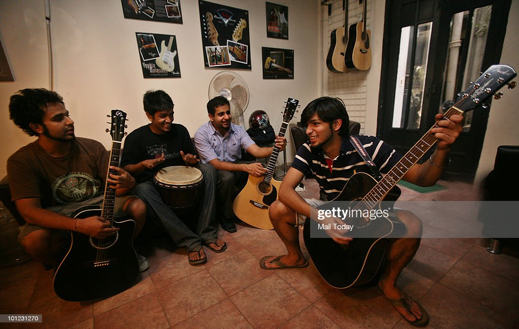 Delhi based rock band Cyanide, which has been around the since 2001, poses for a photo shoot in New Delhi on May 26, 2010.