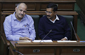 Delhi Chief Minister Arvind Kejriwal along with Deputy Chief Minister Manish Sisodia during the First Session of the Sixth Delhi Legislative Assembly...