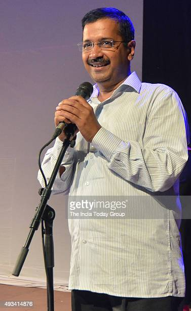 Delhi Chief Minister Arvind Kejriwal during Inauguration of Ramayana at the Central Park in New Delhi