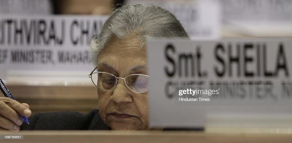 Delhi Chief Minister Sheila Dikshit at the 57th National Development Council (NDC) meeting on December 27, 2012 in New Delhi, India.