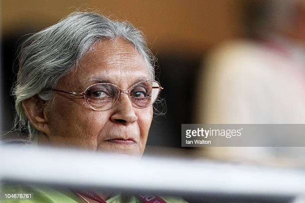 Delhi Chief Minister Sheila Dikshit looks on during the Opening Ceremony for the Delhi 2010 Commonwealth Games at Jawaharlal Nehru Stadium on October...