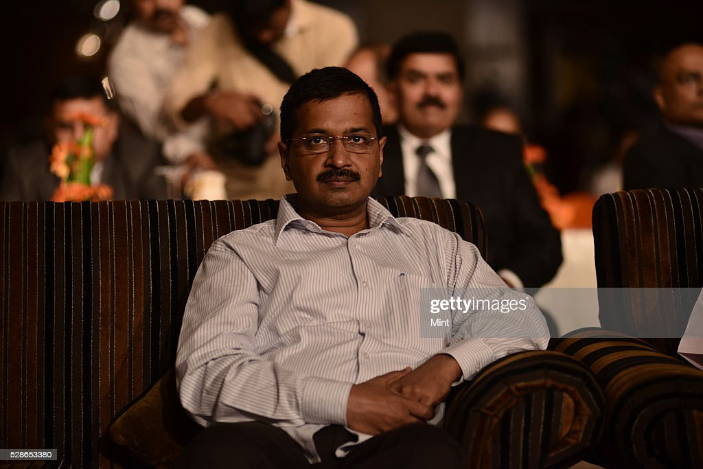Delhi Chief Minster Arvind Kejriwal during 'Mint State competitiveness Award' on September 30, 2015 in New Delhi, India.