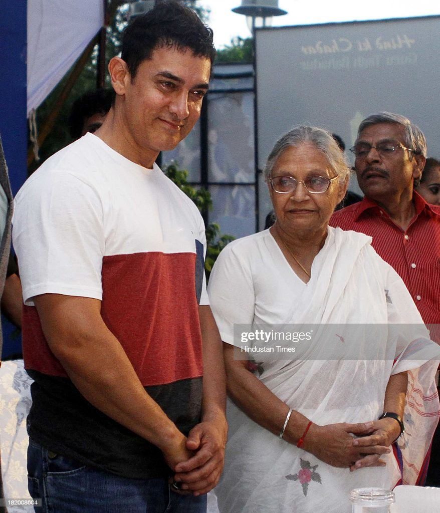 Delhi CM Sheila Dikshit and Bollywood actor Aamir Khan during the World Tourism Day event at Dilli Haat on September 27, 2013 in New Delhi, India. Since 1980, the United Nations World Tourism Organization has celebrated World Tourism Day on September 27. The adoption of these Statutes is considered a milestone in global tourism. The purpose of this day is to raise awareness on the role of tourism within the international community and to demonstrate how it affects social, cultural, political and economic values worldwide.