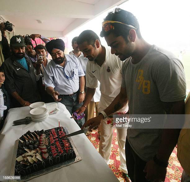 Delhi cricketer Virat Kohli celebrates his birthday in Ghaziabad during Ranji trophy match against Uttar Pradesh on Monday 5th November 2012