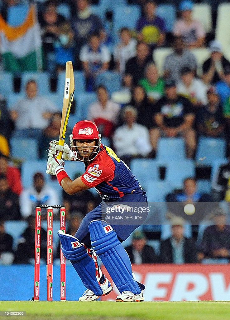 Delhi Daredevils Ross Taylor plays a shot during Group A of The Champions League T20 (CLT20) at Super Sports Park in Centurion on October 13, 2012. Kalkata Knight Riders won the toss and elected to bowl.