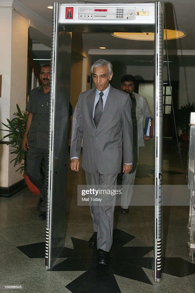 Delhi Governor Tejinder Khanna after a Commonwealth Games Organising Committee Meeting in New Delhi on May 22, 2010.