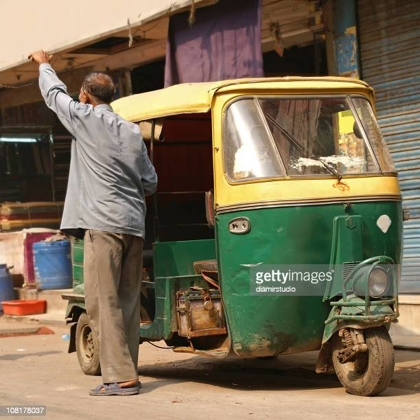 Delhi, India. Auto rickshaw