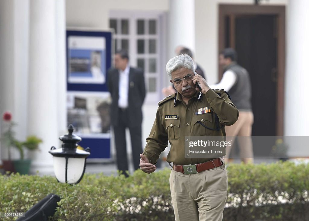 Delhi Police Commissioner BS Bassi after inaugurating Academy for Smart Policing on February 12, 2016 in New Delhi, India.