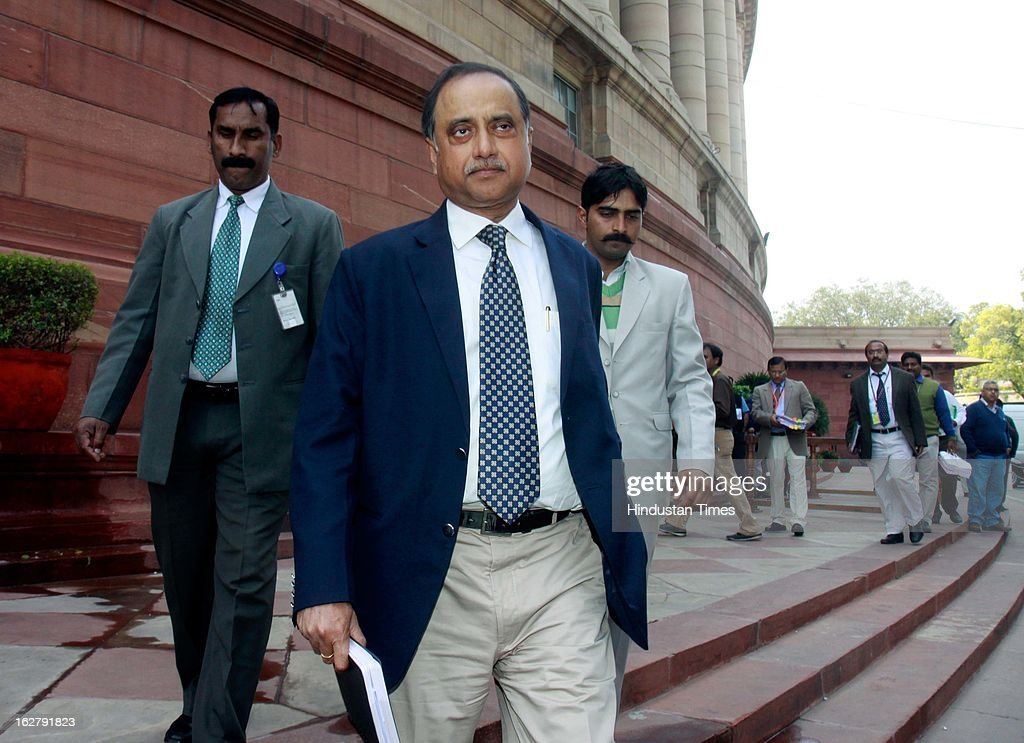 Delhi police commissioner Neeraj Kumar comes out after attending a meeting with Home Minister on the issue of Arun Jailtley phone tapping, at Parliament House on February 27, 2013 in New Delhi, India. The Delhi Police constable and a private detective were arrested by Delhi Police fortnight ago over the alleged attempt to tap phone calls of the Leader of Opposition in the Rajya Sabha, Arun Jaitley.