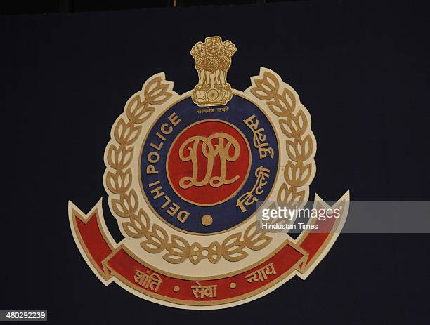 Delhi Police new logo released during the Annual Press Conference at India Habitat Centre on January 3 2014 in New Delhi India There has been a 436...