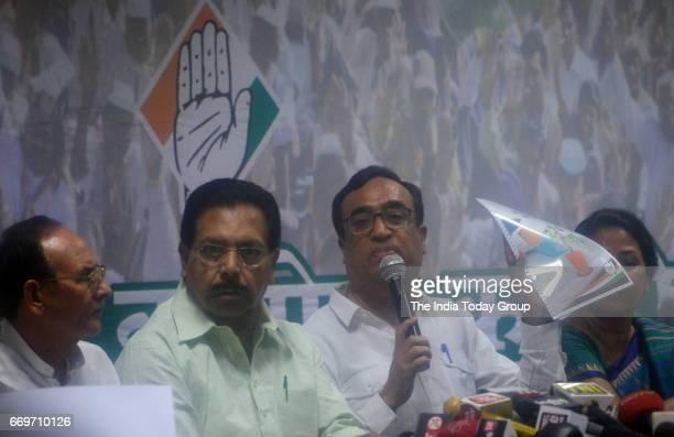 Delhi Pradesh Congress Committee President Ajay Maken senior leader PCChacko and Chatar Singh release manifesto for MCD elections in New Delhi