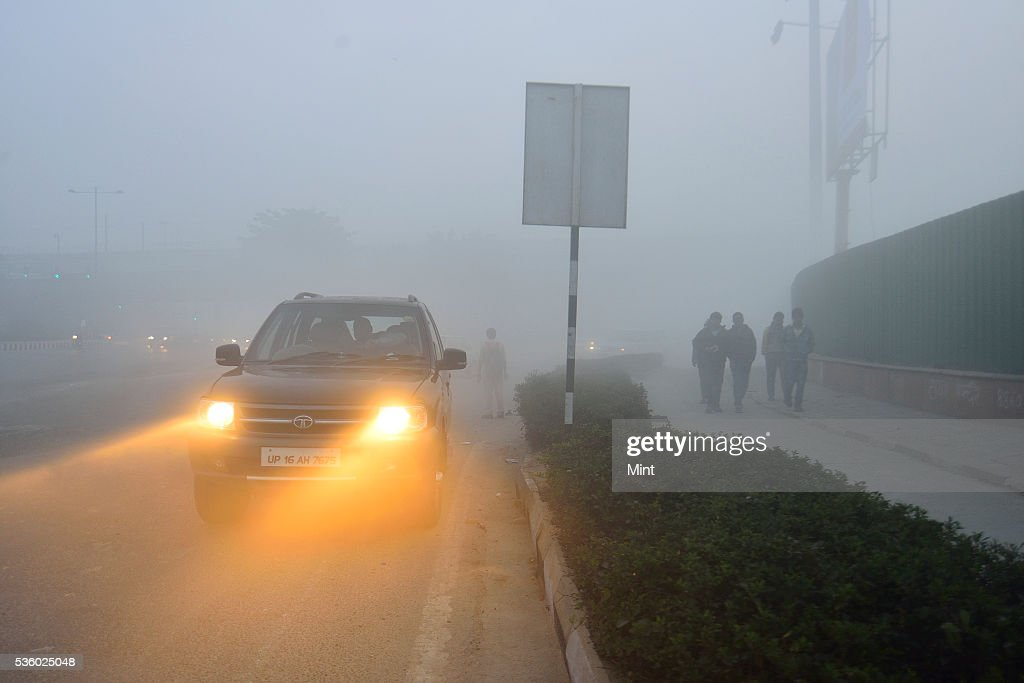 Delhi, the worlds most polluted city, engulfed in heavy smog due to air pollution on December 8, 2015 in New Delhi, India.