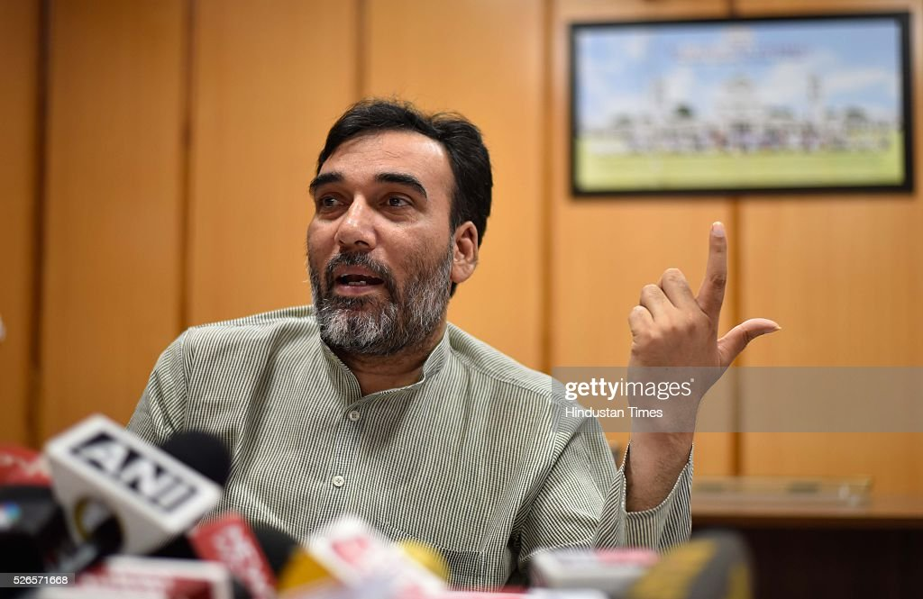 Delhi Transport Minister Gopal Rai during the press conference on Odd-Even at his residence, on April 30, 2016 in New Delhi, India. Rai said the government will implement the third edition of odd-even scheme only after analyzing report of its six-member committee and surveys of media organizations.