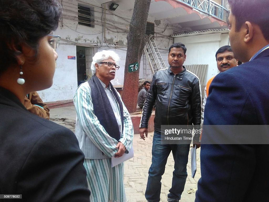 Delhi University professor Ali Javed reached at Parliament Street Police station, joining the investigation that is going on Press Club of India event where pro-Afzal Guru slogans were raised February 12, 2016 in New Delhi, India. A day after Press Club of India (PCI) filed an FIR at the Parliament Street Police Station against the organisers of the event on Afzal Guru, where slogans were anti-national slogans were raised, it expelled Ali Javed, who booked the hall. Press Club distanced itself from the event on Afzal Guru in their premises and said that they were unaware about the event.