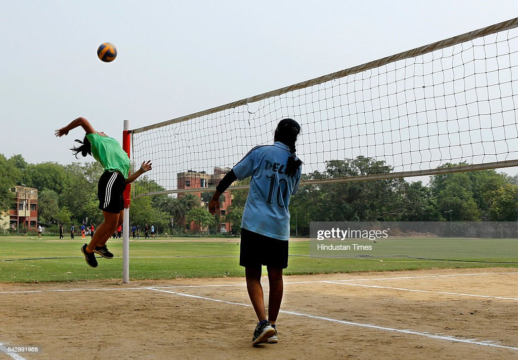 Delhi University sports trial in progress at Laxmibai College on June 25, 2016 in New Delhi, India. The university has received 10,382 applications under the sports category, with applicants competing for not more than 5 per cent of seats reserved for sports and ECA quota in each course. The fitness test and the trials would be conducted in 28 colleges of the varsity between June 24 and July 2 in the morning slots between 7 to 11 am.