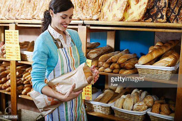 Deli Owner With Fresh Bread