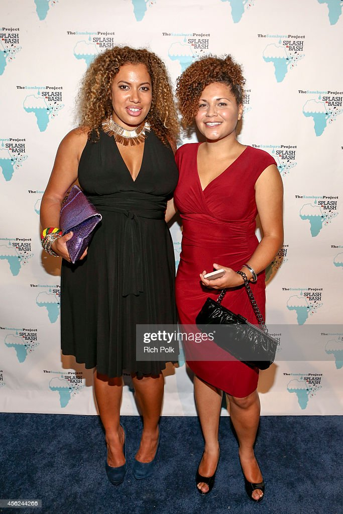 Delia Douglas and Kristen Marston DDHPR attend the Samburu Splash Bash Event on September 27 2014 in Santa Monica California