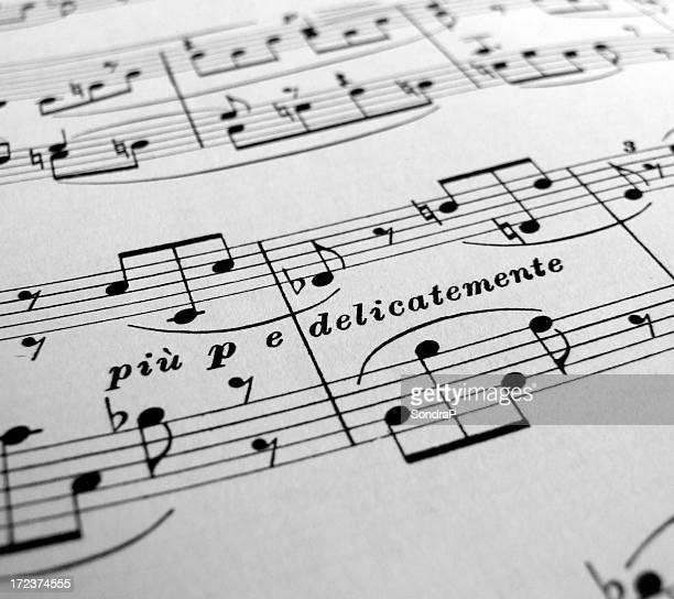 Délicate et de doux Partition musicale