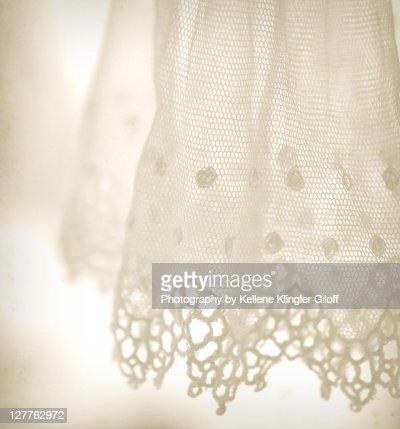 Delicate antique white lace