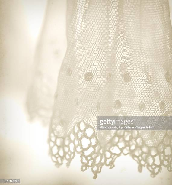 Delicate antique white lace