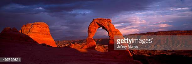 Delicate Arch located in Arches National Park near Moab, Utah, United States.