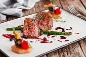 Food Gourmet Veal Medallions Luxury Lifestyle Expensive Restaurant Recipe Serving Concept