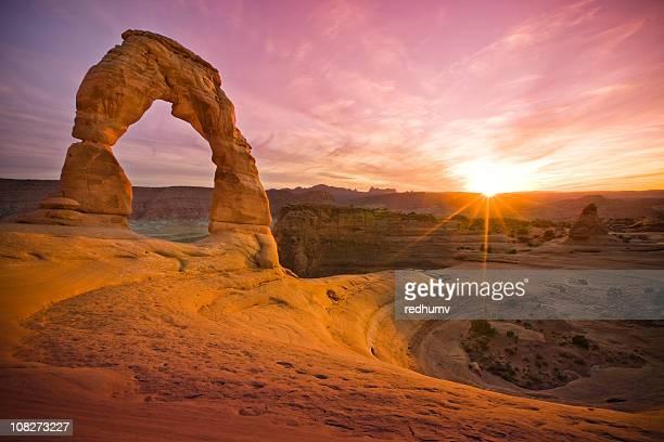 Delicate Sandstone Arch in Rock Moab Utah