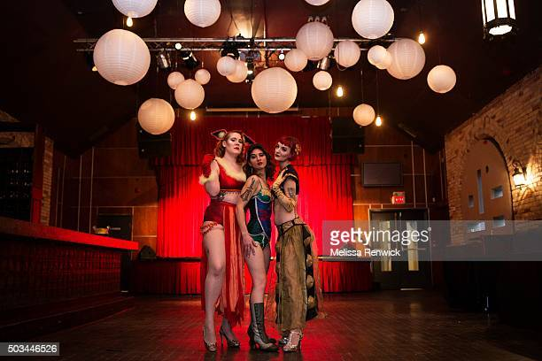 TORONTO ON DECEMBER 30 Delicia Pastiche Helen of Tronna and Loretta Jean banded together as Nerd Girl Burlesque to show the world that geeky nerdy...