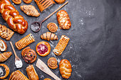 Delicious, fresh and sweet seasonal pastry background