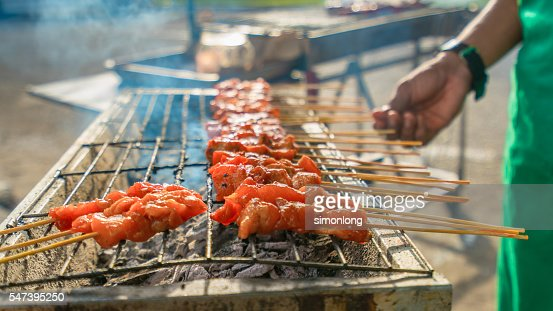 Beef satay stock photos and pictures getty images for Asian cuisine lander